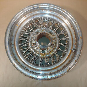 Vintage Appliance 14 Inch Wire Wheels 14x7 Chrome Oem