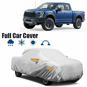 22ft Pickup Truck Full Car Cover Waterproof Rain Snow Dust Proof Silver Peva