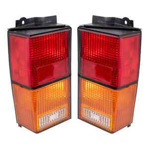 Pair Tail Lights For 84 96 Jeep Cherokee Taillamp Set W Housing 4720501 4720500