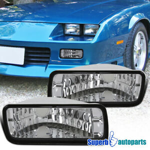 For 1985 1992 Chevy Camaro Front Bumper Lights Turn Signal Lamps Left Right