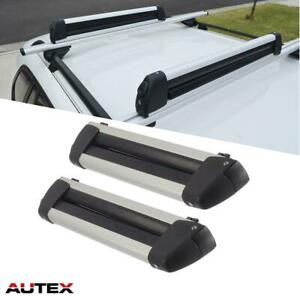 30 Universal Ski Snowboard Carrier Mounted Roof Top Rack Cross Bar Cargo Rail