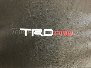 2014 2020 Toyota Tundra Crewmax Alea Black Red Leather Seat Covers Logo Trd Pro