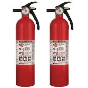 2 pack Disposable Fire Extinguisher For Home Office Common Use Kidde 1 a 10 b c