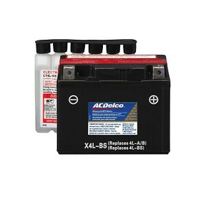 Acdelco Atx4lbs Specialty Agm Powersports Jis 4l Bs Battery