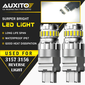 Auxito 2x 3157 3156 Back Up Reverse Light Led Tail Bulb White 23smd For Ford Eoa