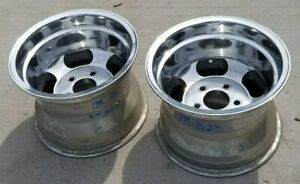 14x10 Ansen Style Sprint Wheels Rims Mags Slotted 5x4 75 Chevrolet