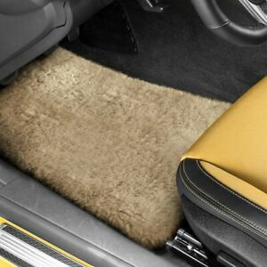 For Dodge Meadowbrook 49 52 Tailor made Sheepskin 1st 2nd Row Camel Floor Mats