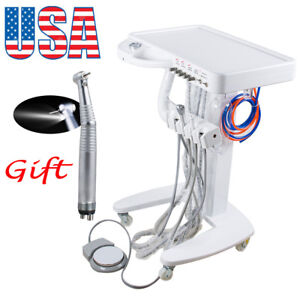 4hole Dental Delivery Mobile Cart Unit Machine No Compressor Equipment Handpiece