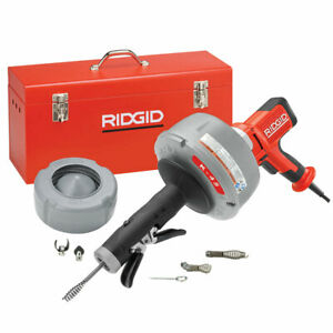 Ridgid 35473 K 45 Drain Cleaner C 1ic Cable W bulb Auger 5 16 X 25 Autofeed