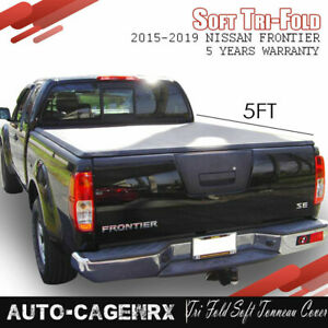 Fits 2015 2019 Nissan Frontier 5ft Truck Bed Tri Fold Soft Tonneau Cover 60in