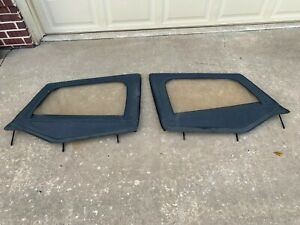 Jeep Yj Factory Zip Up Window Panels 1987 1995 Wrangler Skin Frame Nice