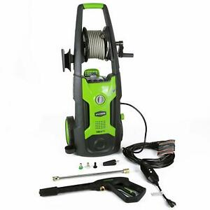 Greenworks Electric High Pressure Washer 25 Foot Hose Reel Green for Parts