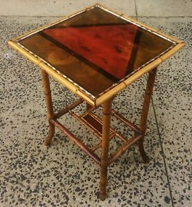 Antique 19th 20th C English Regency Bamboo Chinoiserie Asian Table Stand