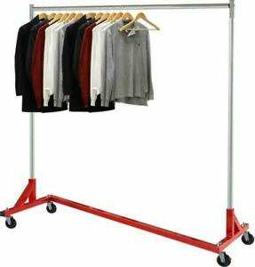 Simple Houseware Commercial Z Base Garment Rack Red