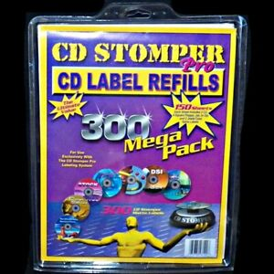 Cd Stomper Pro Labeling Label Refills 150 Sheets 300 Mega Pack Matte Labels Dvd
