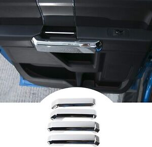 4pcs Car Interior Door Handle Cover Trim Kit Accessories Chrome For Ford F150