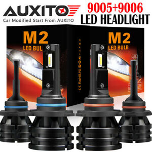 4 Pc Auxito 9005 9006 Led Headlight Bulb Kit High Low Beam 24000lm M2 Eoa