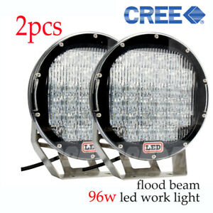 96w High Power Led Work Light For Atvs Suv Truck Offroad Boat 4wd 9 Flood
