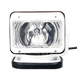 35w 24v Xenon Hid Search Work Light Remote Rotating 360 Magnetic Boat Truck