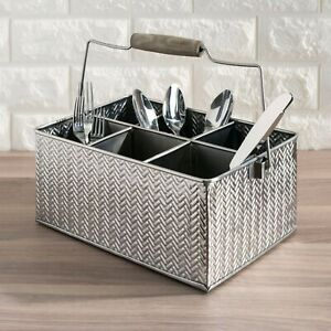 Silver Tabletop Condiment Caddy