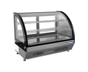 Atosa Crdc 35 27 6 Refrigerated Countertop Display Curved Glass Case Free Lift