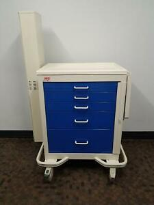 Mpd Medical 5 Drawer Endoscopic Crash Cart With Scope Cabinet