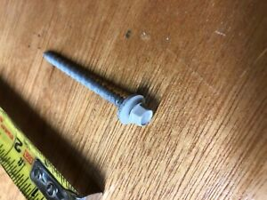 250 White Atlas 10 X 2 1 2 Pole Barn Roofing Metal To Wood Screws 2 5