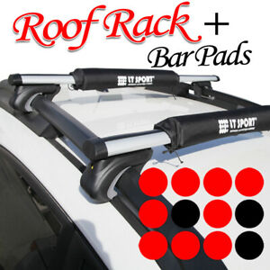 Fit Jeep Roof Top Rack Cross Bars Luggage Carrier Set Keylock Round Pad