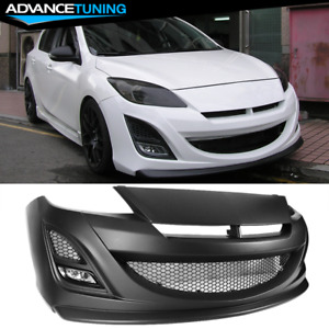 Fits 10 13 Mazda 3 Auto Exe Style Front Bumper Bodykit Polypropylene