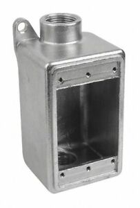 Calbrite Weatherproof Electrical Box 1 gang 2 inlet Stainless Steel Stainless