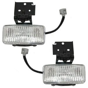 Pair Fog Lights For 97 98 Jeep Grand Cherokee Driving Lamp Set 55155313 55155312