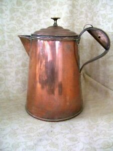 Edwardion Copper Coffee Pot Jug 1917 Bulpitt Sons Ltd Birmingham Vgc