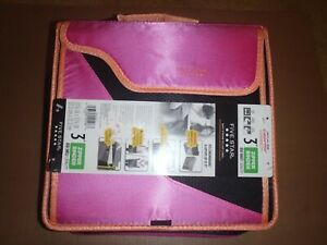 Five Star 3 Zipper Binder 3 Ring Binder Colored Folders And Tab Folders Pink