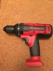 Snap On Tools Cordless 18v 1 2 Reversible Hammer Drill Driver Body Cdr7850 New