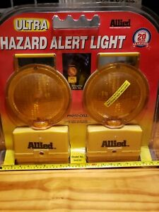 Vintage 1992 Allied Emergency Road Hazard Alert Light 6v Batt New Old Stock