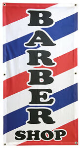 2x4 Ft Barber Shop Banner Sign Wb Polyester Fabric