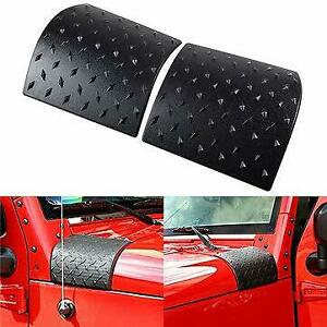 Hood Side Cowl Body Armor Cover Trim For Jeep Wrangler Jk 2007 2017 Accessories
