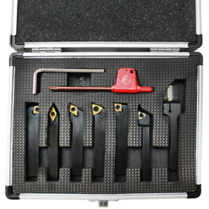7 Pc 1 4 Indexable Turning Tool Set With Carbide Inserts Lathe Tool Holer