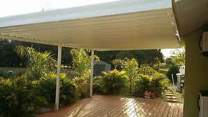12 X 24 Wall Attached Flat Pan Aluminum 030 Patio Cover Kit
