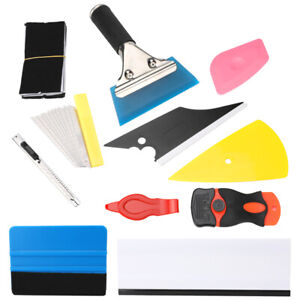 11 Pcs Pro Car Window Tint Wrapping Vinyl Tools Squeegee Scraper Applicator Kits