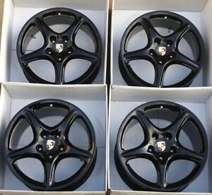 19 Porsche 911 997 Factory Oem Original Bbs Black Wheels Rims Carrera S C2 C2s