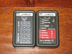 Ideal 62 200 Linkmaster Ethernet Tester Great Cond