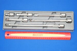 Snap on Tools 6 Piece 3 8 Drive Wobble Plus Extension Set 206afxwp Ships Free