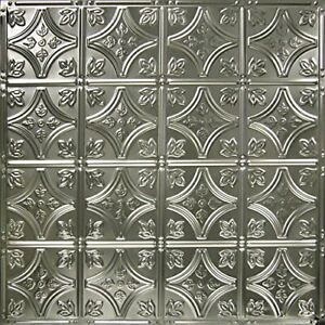 American Tin Ceilings 24x24nail Up Tin Ceiling Tile Pattern 3 5 Pack Unfinished