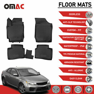 Floor Mats Liner 3d Molded Black Fits For Kia Forte Koup 2010 2013