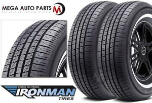2 Ironman By Hercules Rb 12 Nws 235 75r15 105s White Wall All Season 440ab Tires