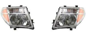 Headlights For Nissan Frontier 2005 2006 2007 2008 Pair Pathfinder 2005 2007