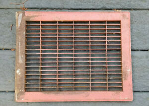 Vintage Antique Iron Floor Wall Vent Register Grate