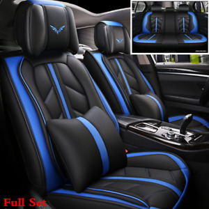 5d Microfiber Leather Car 5 seat Cover Cushions Interior Styling Accessories
