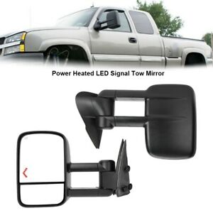 2x Power Heated Tow Mirrors W Led Signal Set Fit For 2003 2006 Chevy Silverado